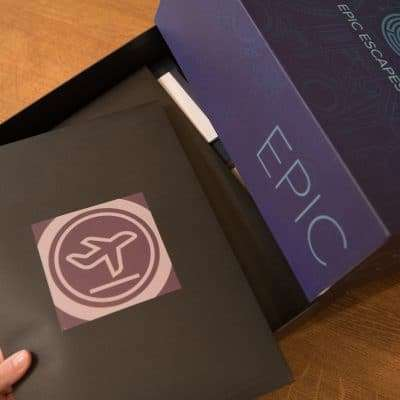 Epic Escapes Inside Packaging